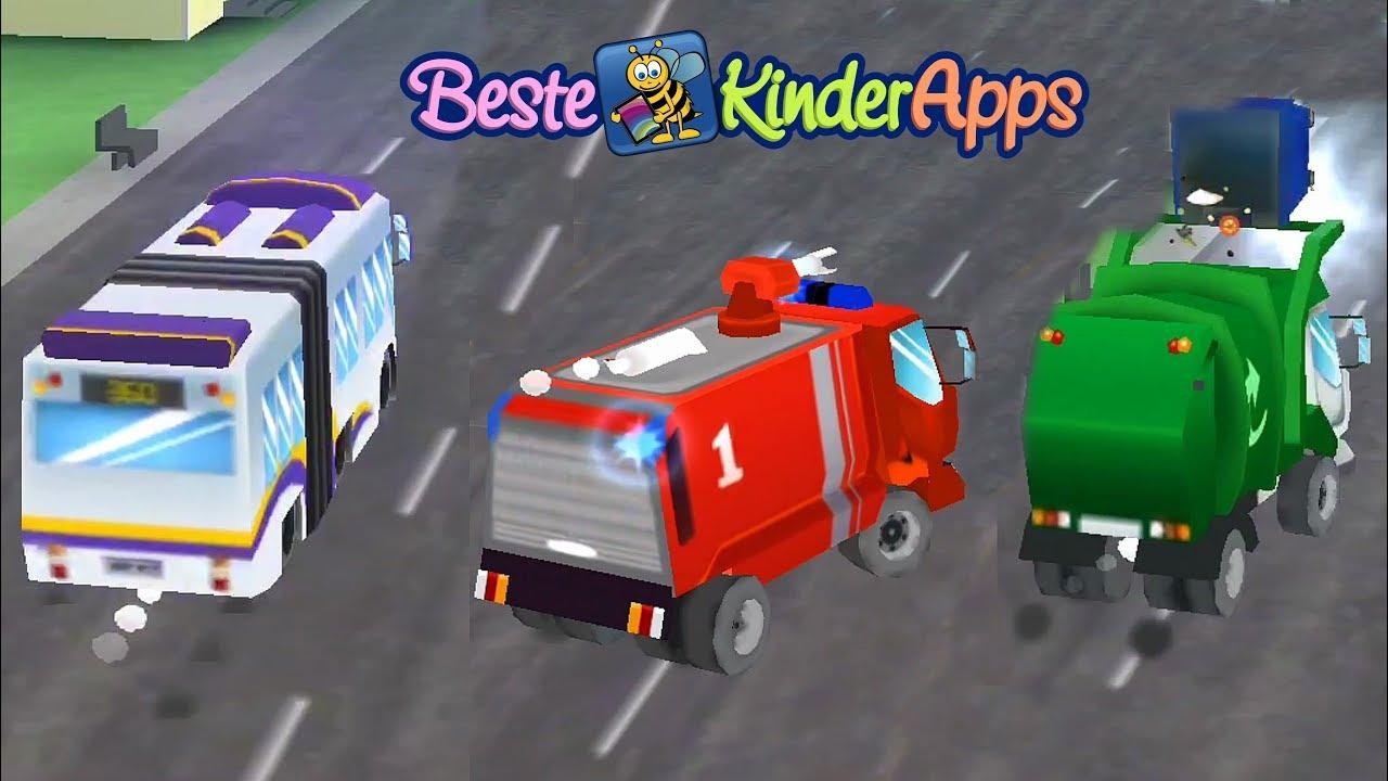 volvo truck spiel feuerwehr auto boot transporter bagger m llwagen beste kinder apps. Black Bedroom Furniture Sets. Home Design Ideas