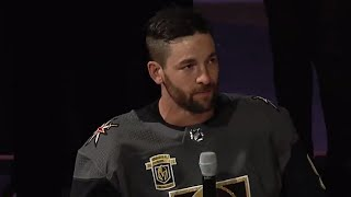Engelland delivers emotional speech before puck drop