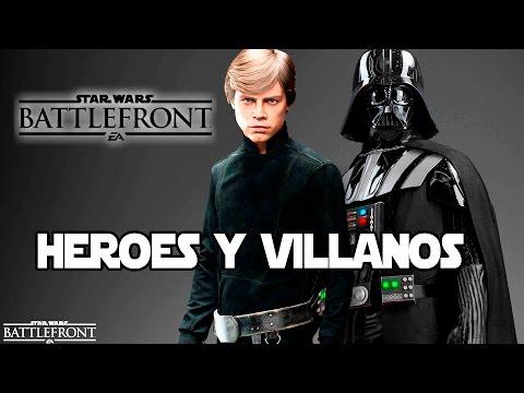 Star Wars Battlefront Español Heroes y Villanos Partidas Multijugador Online Gameplay PC 1080p 60fps