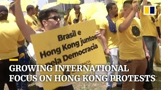 Hong Kong protests draw attention from US senators,  Xi Jinping, activists in Brazil and London