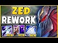 NEW ZED REWORK RELEASED! JUST HOW OP ARE THESE CHANGES? S9 REWORKED ZED GAMEPLAY - League of Legends