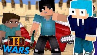 Minecraft: JOGANDO UM MEGA BED WARS! *40VS40* c/ AJ