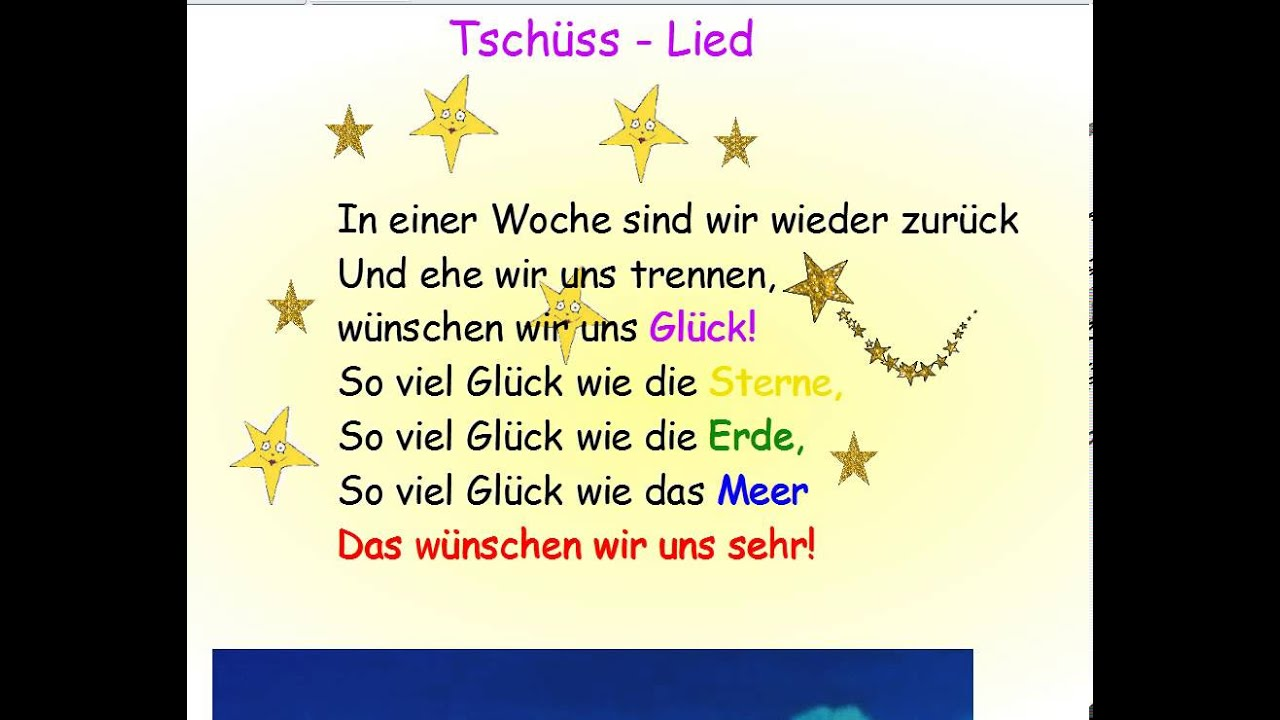Tschüss- Lied - YouTube