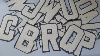 Easy to Make Letter Cutting A to Z with Grid