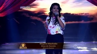 "MAYARA MACHADO - Canta ""Deus do Secreto"" do Min. Sarando a Terra Ferida no Raul Gil"