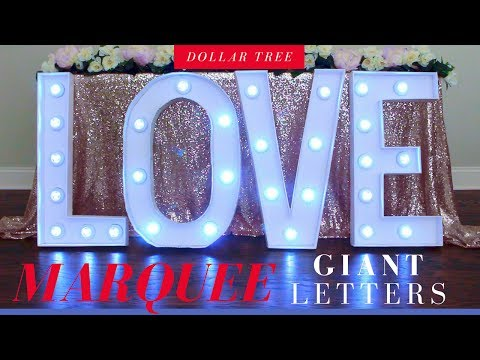 dollar-tree-giant-marquee-letters-diy-|-party-decoration-ideas