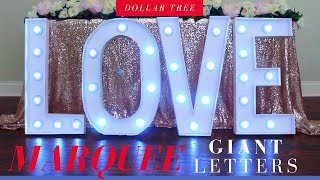 Dollar Tree Giant Marquee Letters DIY | Party Decoration Ideas