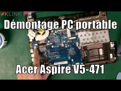 How to disassemble an Acer Aspire V5-471 laptop