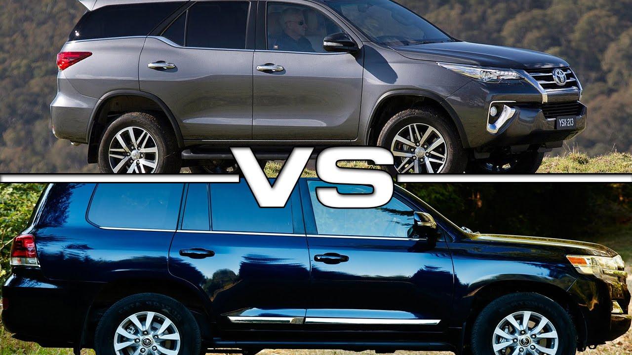 2016 Toyota Fortuner vs 2016 Toyota Land Cruiser - YouTube