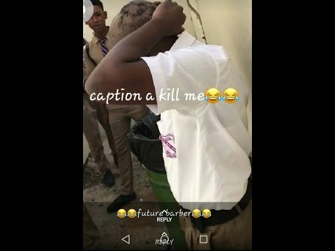 STUDENT DID THIS TO NOT GET SUSPENDED-Kingston college Jamaica