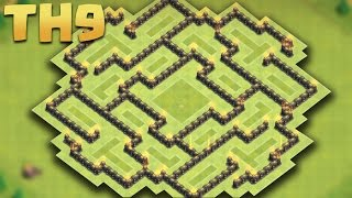 Clash of Clans - Town Hall 9 (TH9) Awesome Farming Base + Replays 2016