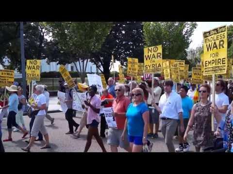 Demonstration mot krig i Syrien, Washington DC, 7 september 2013