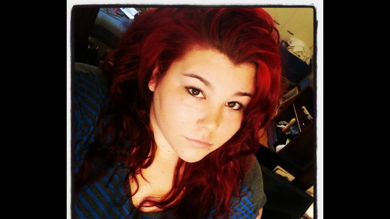 How I Dye My Hair Red Youtube