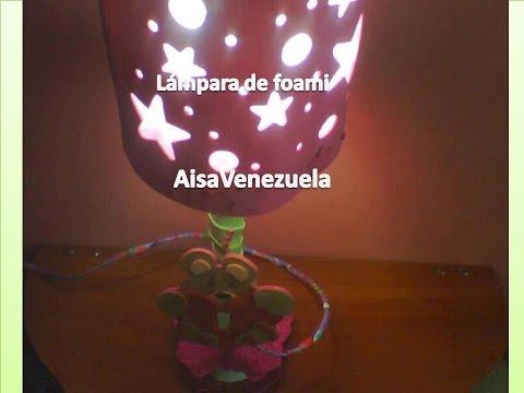 Lampara de foami mesita de noche iii youtube - Lamparas con goma eva ...