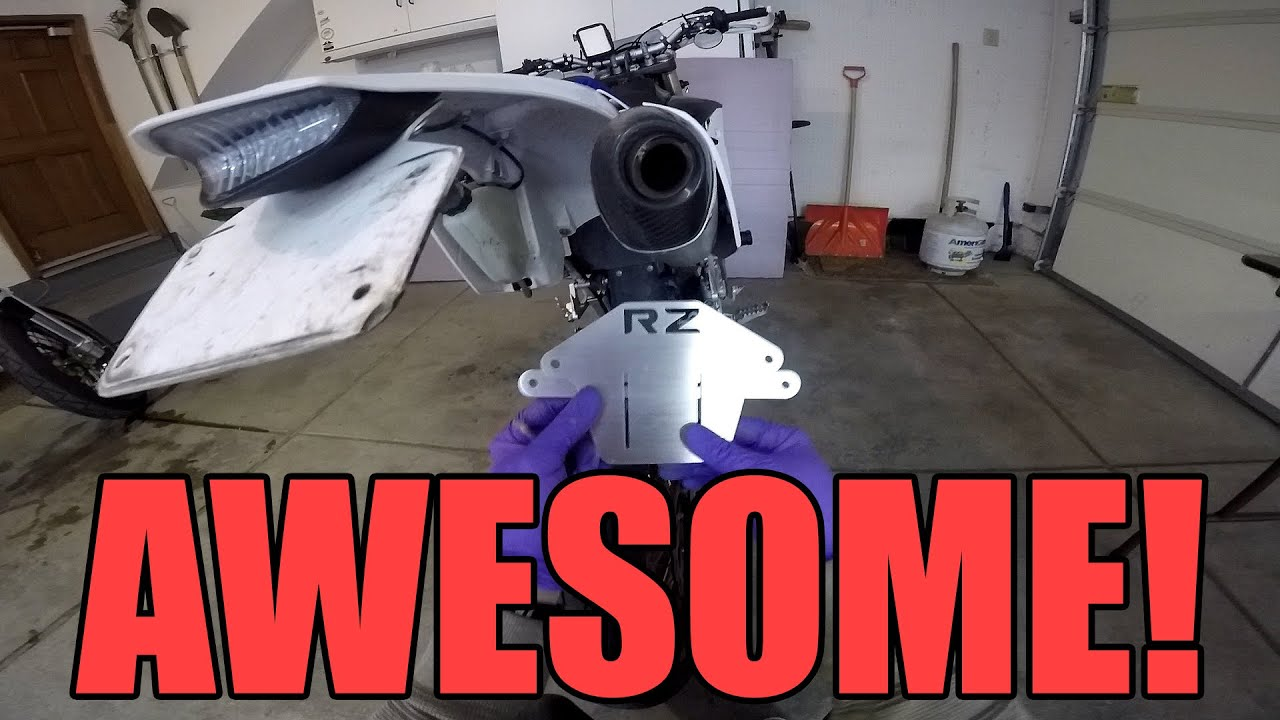 Custom License Plate Mount On My Wr450f Youtube