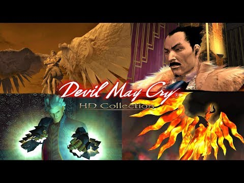 Devil May Cry HD Collection - ALL BOSS BATTLES AND ENDINGS