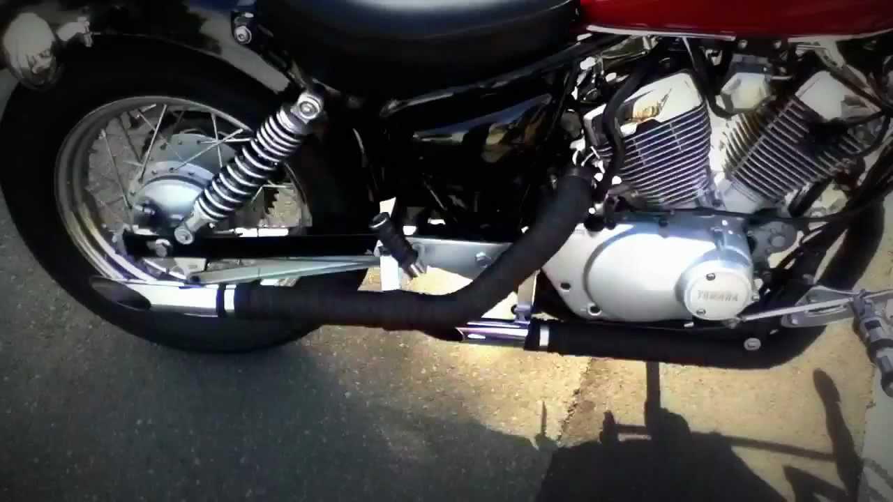 Yamaha Virago Xv250 Exhaust Youtube