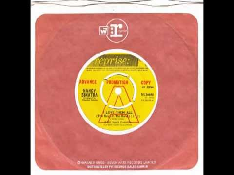"""Nancy Sinatra – """"I Love Them All (The Boys In The Band)"""" (UK Reprise) 1970"""