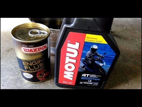HONDA DIO ENGINE FLUSH | MOTUL 10W 30 | FULL PROCESS | #TRIVEDIJI