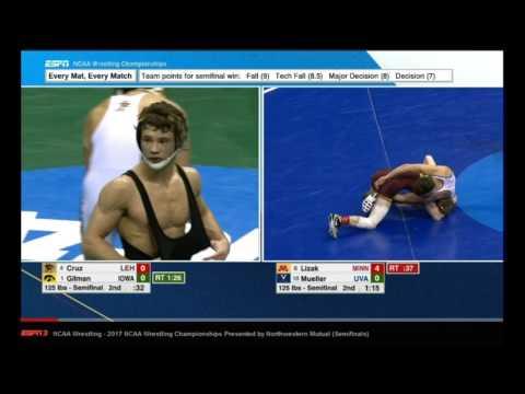 2017 NCAA Wrestling 125 lb. SemiFinals