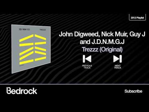 John Digweed, Nick Muir, Guy J and J.D.N.M.G.J - Trezzz ( Original ) - ( Bedrock Records )