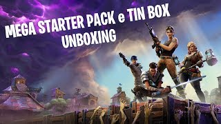 UNBOXING FORTNITE MEGA STARTER PACK e TIN BOX!