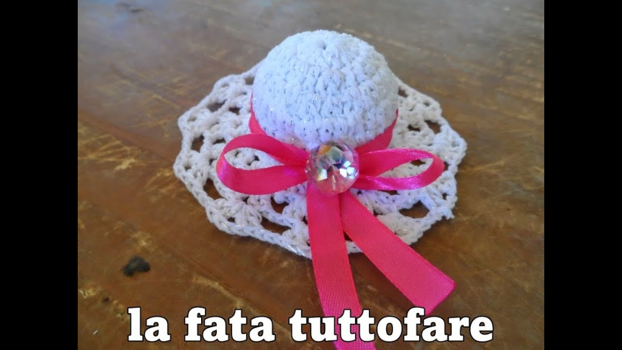 Ben noto Tutorial: cappello per bomboniera - YouTube SM21