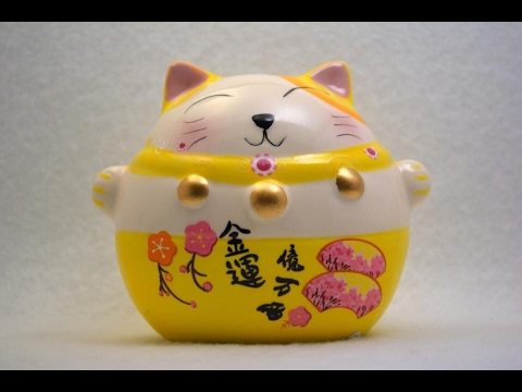 Feng shui Economic Fortune cat  Lucky Cat Maneki-Neko (風水 招き猫 金運 )