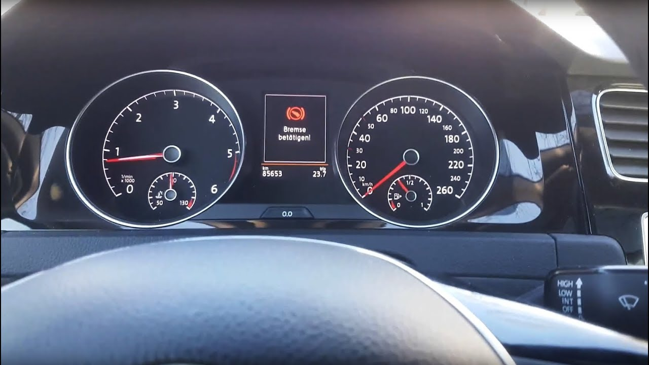 golf 7 auto hold nach aktion 46g7 ohne funktion youtube