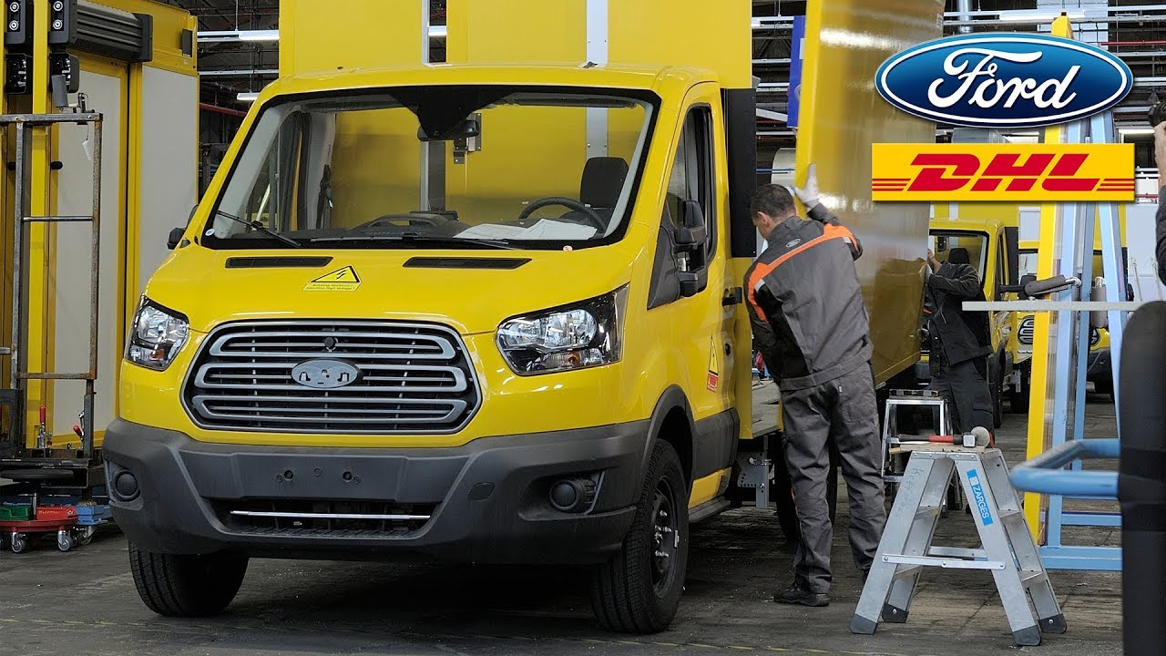 Deutsche Post DHL Streetscooter Work XL Electric Van Production based on Ford Transit - YouTube