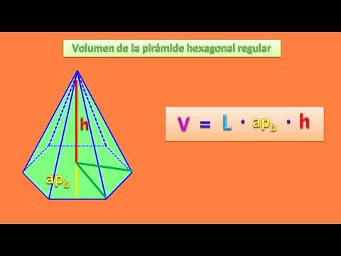 Volumen de la pirámide hexagonal regular - YouTube