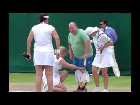 Kim Clijsters sparked an amazing scene at Wimbledon