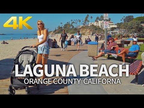 LAGUNA BEACH - Sunday Morning, Laguna Beach, Orange County, California, USA, Travel, 4K UHD