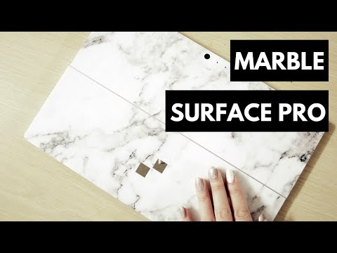 Surface Pro 4 | Marble | Customizable Laptop Sticker | Cherry Tung