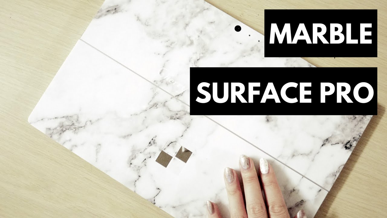 Surface Pro 4 Marble Customizable Laptop Sticker