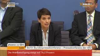 Frauke Petry zum Verzicht auf die Fraktionsmitgliedschaft am 25.09.17