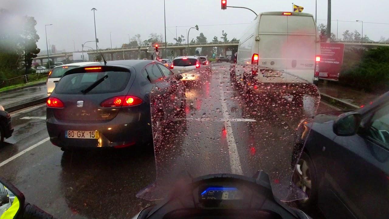 Ride in heavy rain in Elsa depression - Honda NC 750D - Integra S - 4K UltraHD