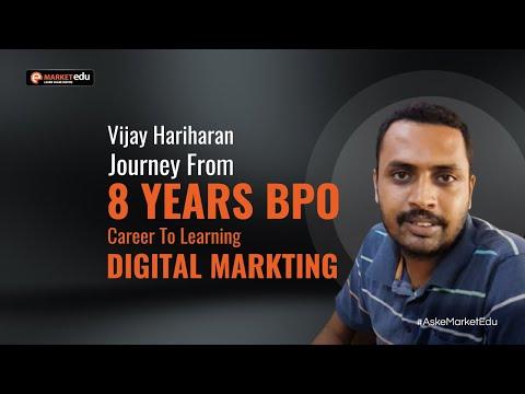 Vijay Hariharan Journey from 8...