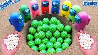 Different Toy Bouncy Ball Experiment Cola Cola, Fanta, Mirinda, Pepsi, Sprite Watermelon and Mentos