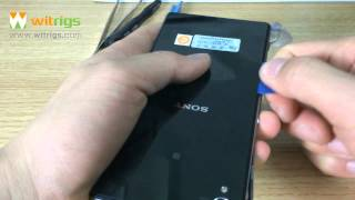 how to remove the Sony Xperia Z Ultra USB port & Micro SD cover flap?