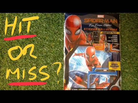 panini-marvel-spider-man-far-from-home-(2019)-sticker-set---reviewed-(-hit-or-miss)