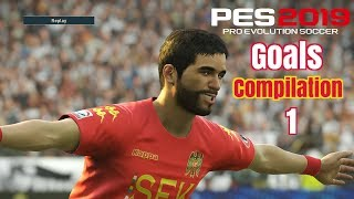 Pes 2019 - Goals -Skills & Goalkeeper Saves- Compilation #1- PS4 - HD