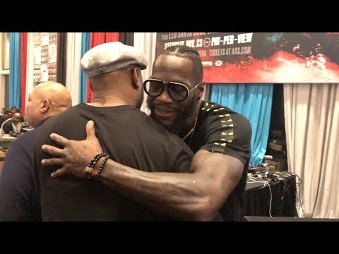 DEONTAY WILDER RECEIVES SUPPORT FROM LENNOX LEWIS & DEVIN HANEY TWO DAYS OUT FROM LUIS ORTIZ REMATCH