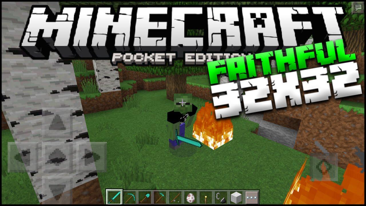 Minecraft PE Faithful 32x32 Texture Pack - MCPE 0 14 3 TP (Pocket Edition)