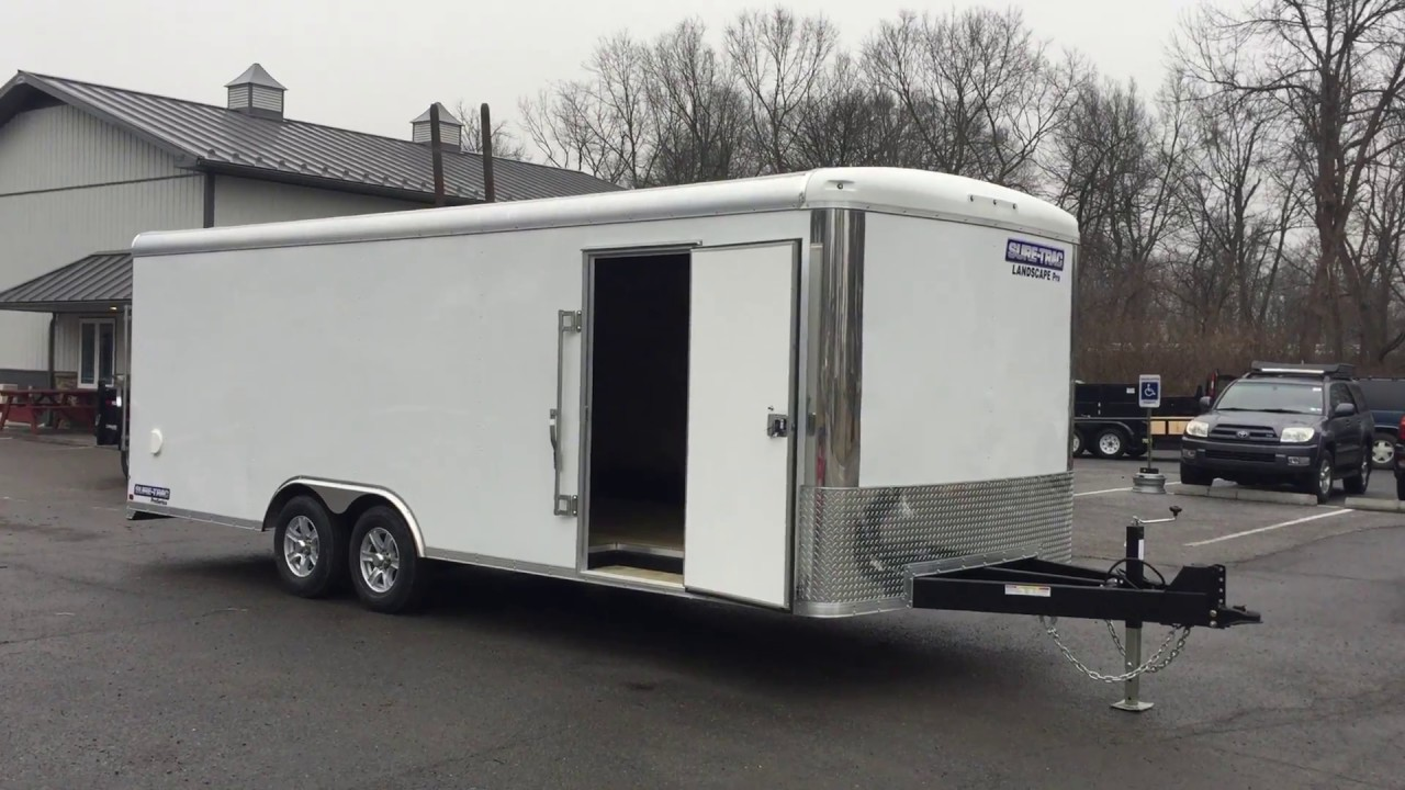 Sure Trac Commercial Landscape Pro Enclosed Cargo Trailer 8.5x22' 9900# GVW - Sure Trac Commercial Landscape Pro Enclosed Cargo Trailer 8.5x22