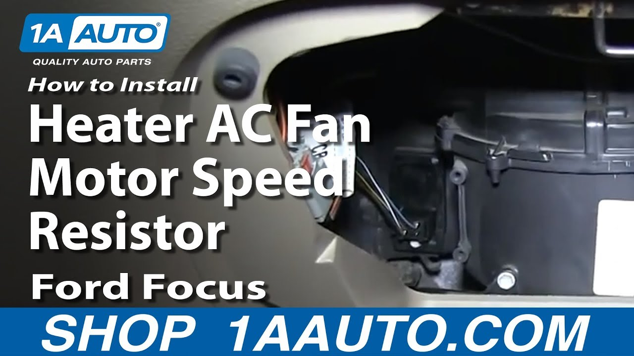 how to install fix heater ac fan motor speed resistor 2000 07 ford focus youtube [ 1920 x 1080 Pixel ]