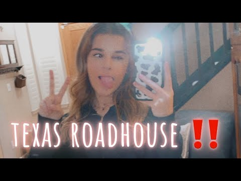 first time at TEXAS ROADHOUSE…