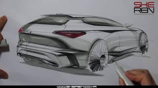 자동차 스케치 & 마카