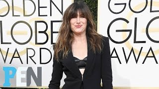 'Transparent's' Kathryn Hahn Shows Off Her Golden Globes Look | PEN | People