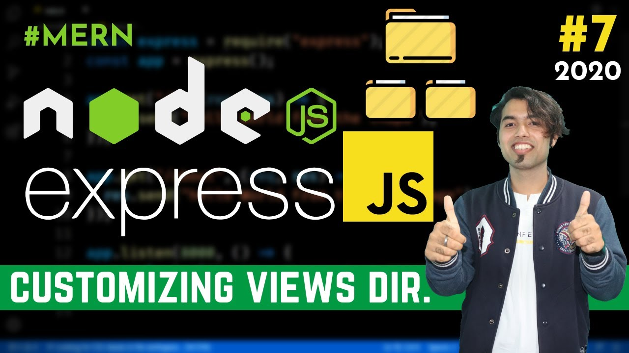 Customizing the Views Directory in Express JS | Dynamic Data Folder in Express in Hindi